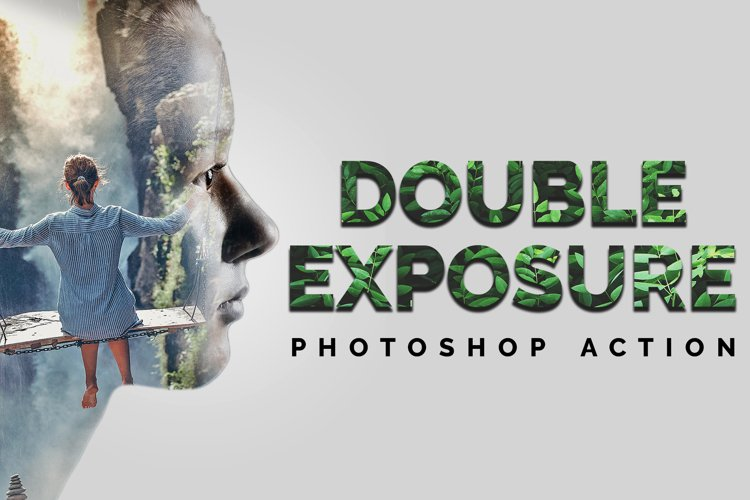 Double Exposure Photoshop Action example image 1