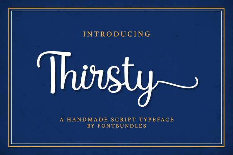 Web Font Thirsty example image 1