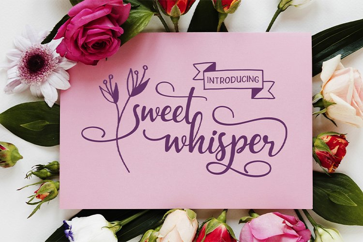 Sweet Whisper    duo font example image 1