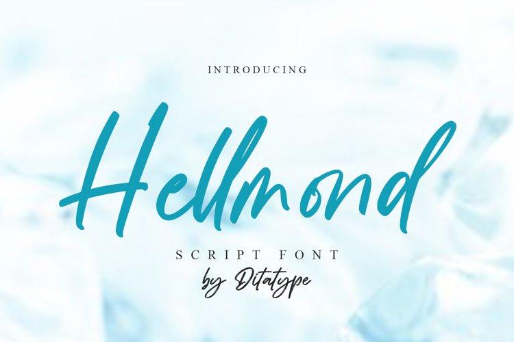 Hellmond-Handwritten Font example image 1
