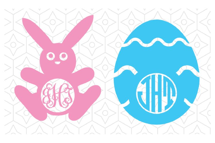 Easter Decal Monogram Frames