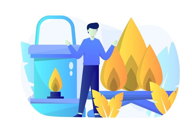 Campfire Flat Illustration example image 1