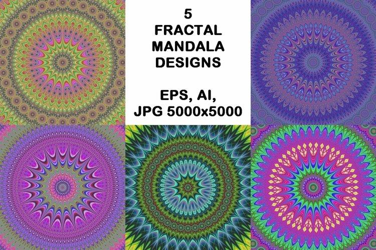 5 fractal mandala design backgrounds example image 1