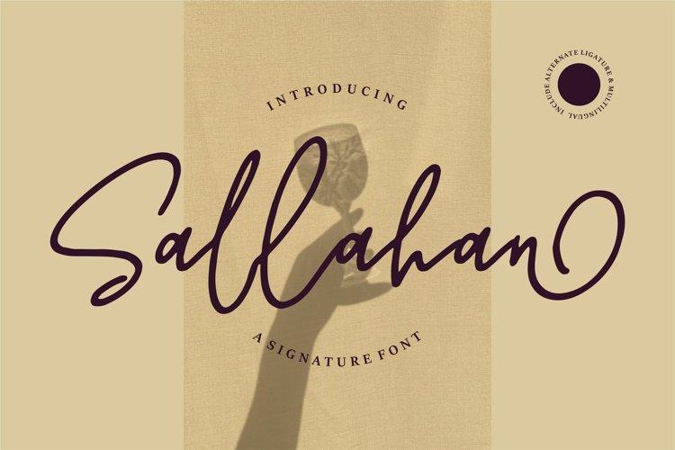 Sallahan - A Signature Font example image 1