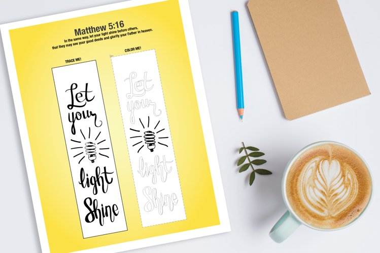 Let your light shine - Bible journaling printable example image 1