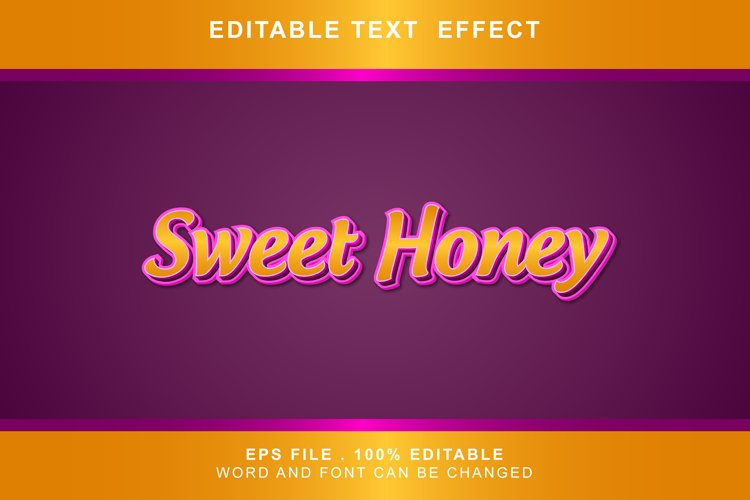 sweet honey Text Effects words and fonts can be replaced example image 1