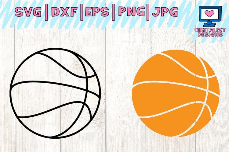 Basketball SVG   Basketball Clipart   Basketball Outline example image 1