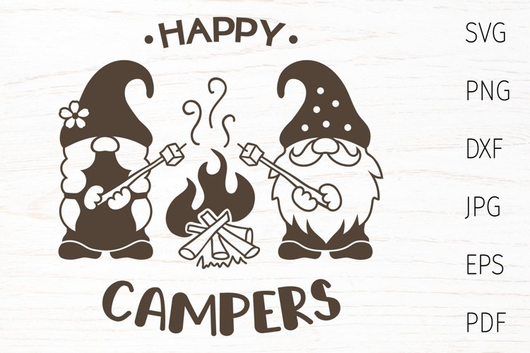 Happy camper, camping gnomes svg, camping svg quote, gnome
