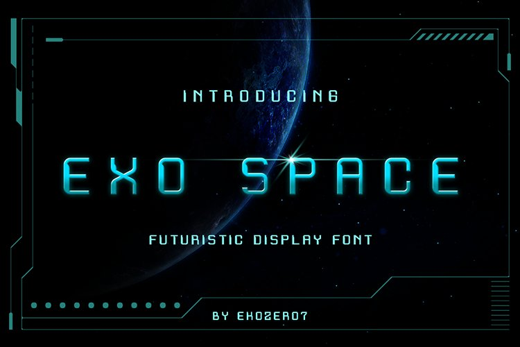 Exo Space Futuristic Display Font example image 1