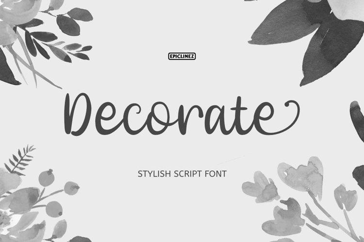 Decorate - Stylish Script Font example image 1