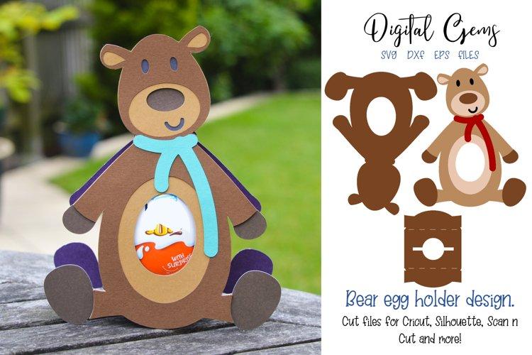 Bear, Egg holder design SVG / DXF / EPS files example image 1