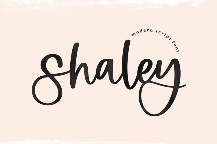 Shaley - A Modern Handwritten Script Font