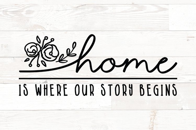 Home is Where our Story Begins - family quotes sign example image 1