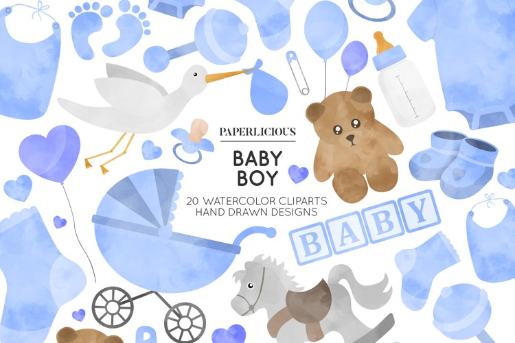 Baby Boy Nursery Cliparts example image 1