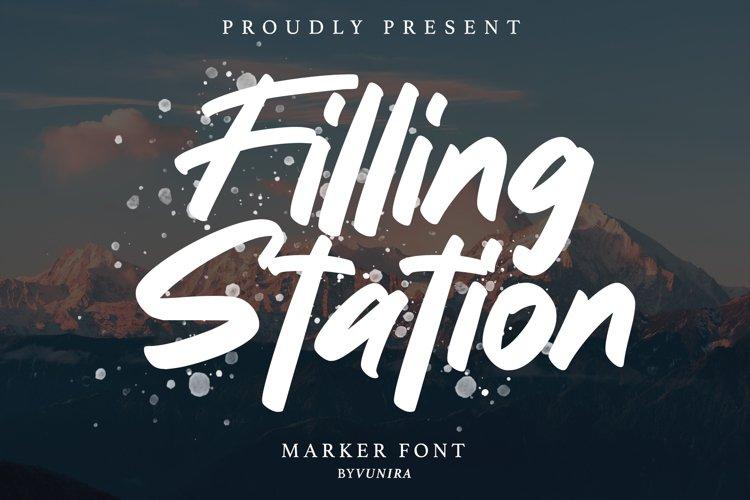 Filling station | Marker Font example image 1