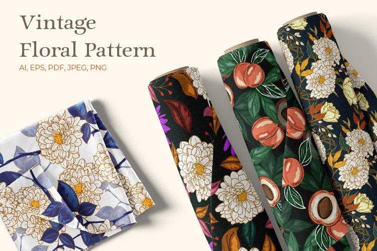 4 Vintage Floral pattern