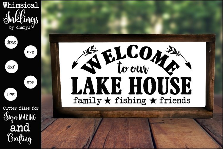 Welcome To Our Lake House SVG example image 1