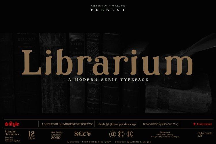 Librarium - Serif Font Family example image 1