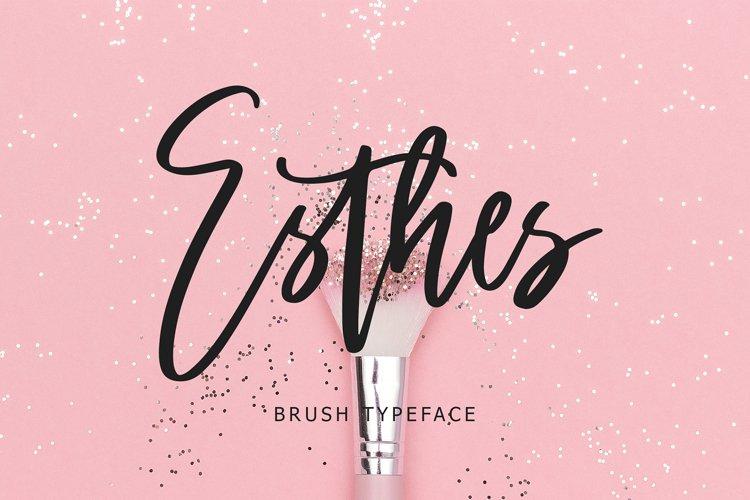 Esthes Brush Script Typeface example image 1