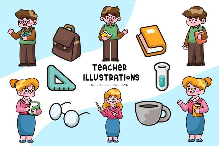 Teacher illustrations