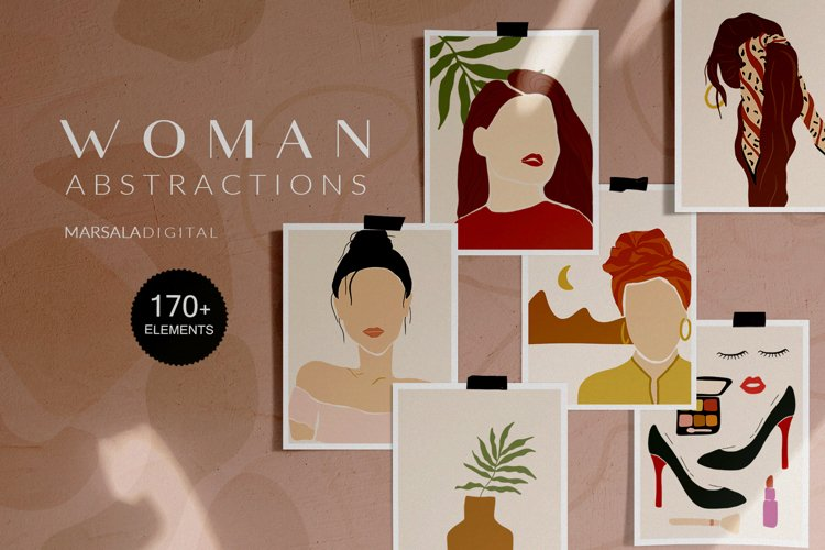 Woman Illustrations, Woman Clipart, Woman Portraits