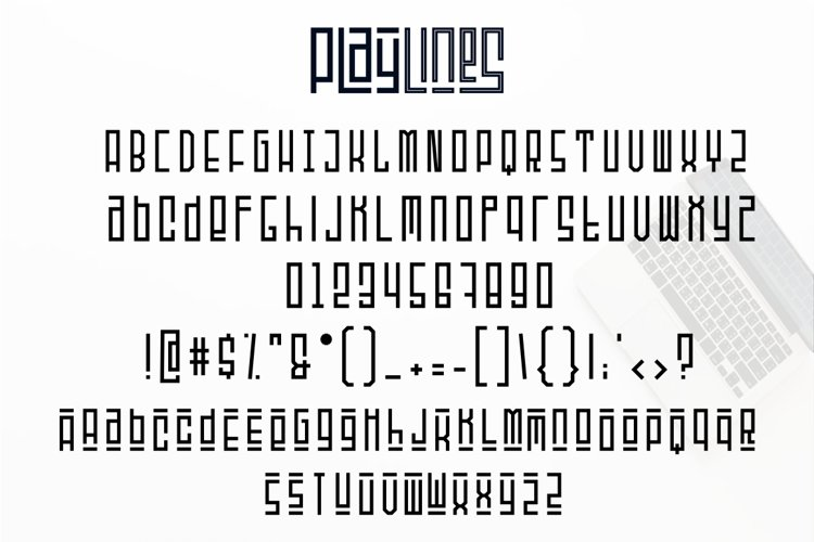 Playlines - Display Typeface example 7