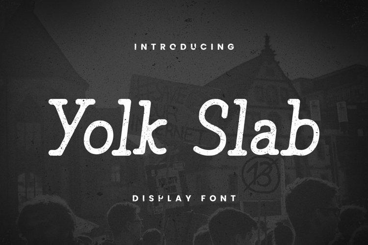 Web Font Yolk Slab Font example image 1