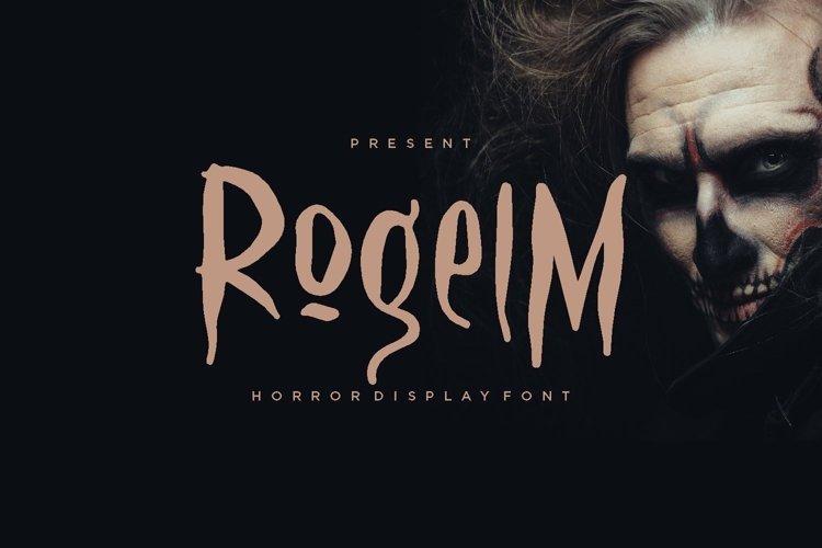 Web Font Rogelm Font example image 1