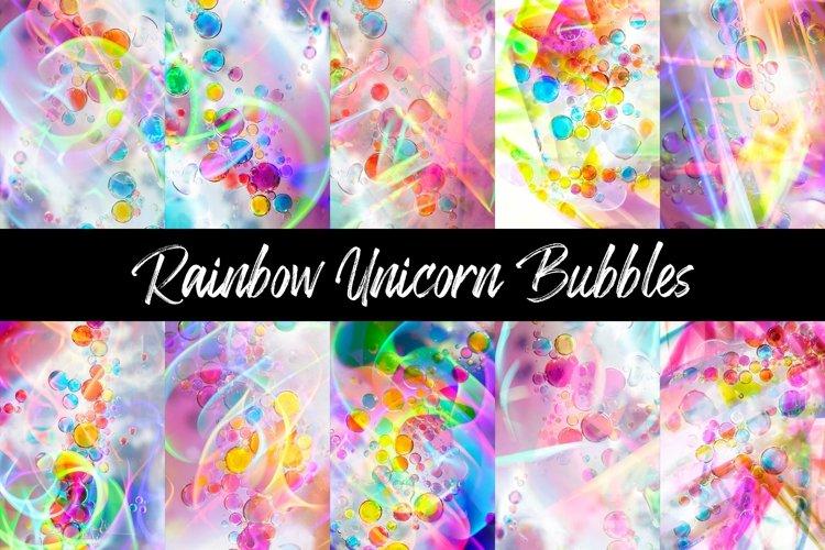 12 Bubble Rainbow Unicorn Photography Backgrounds example image 1