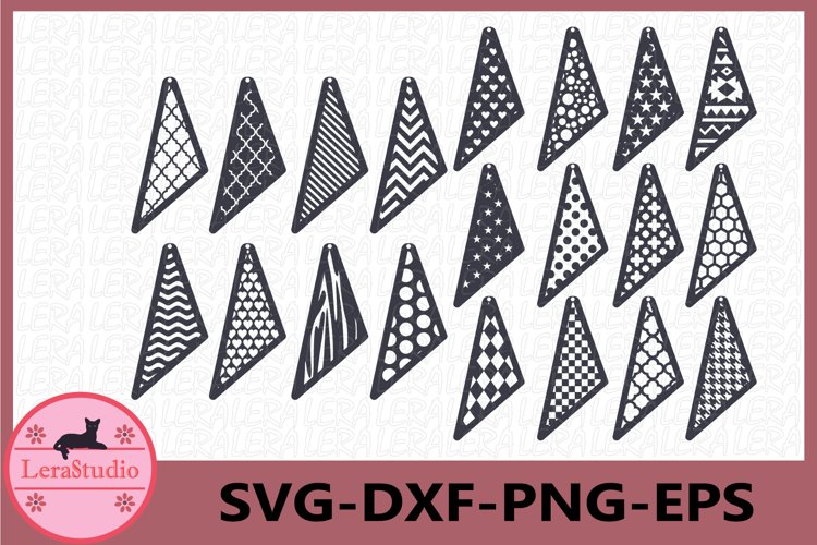 Earrings SVG, Leather Earrings Svg example image 1