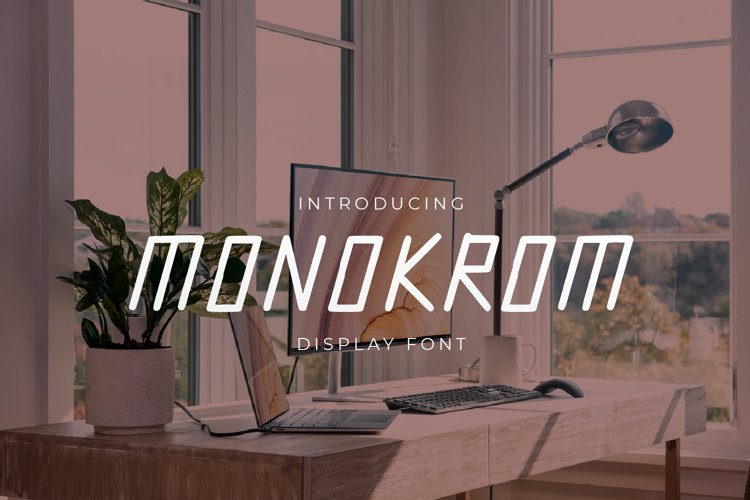 Monokrom - Modern Display Font example image 1