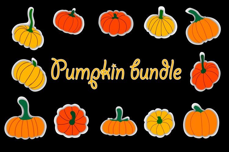Pumpkin bundle, Pumpkin svg, autumn svg, vector example image 1