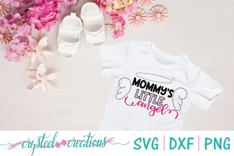 Mommys little angel SVG, DXF, PNG