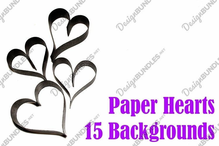 15 Paper Hearts Crafter Background Photographs example image 1