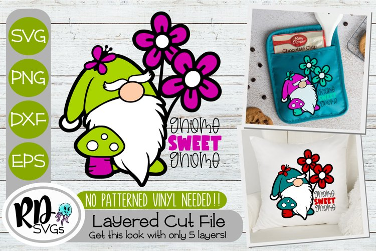 Gnome Sweet Gnome - A Layered Spring Gnome SVG