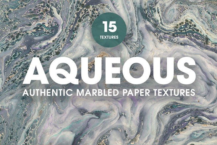 15 Authentic Marbled Paper Textures