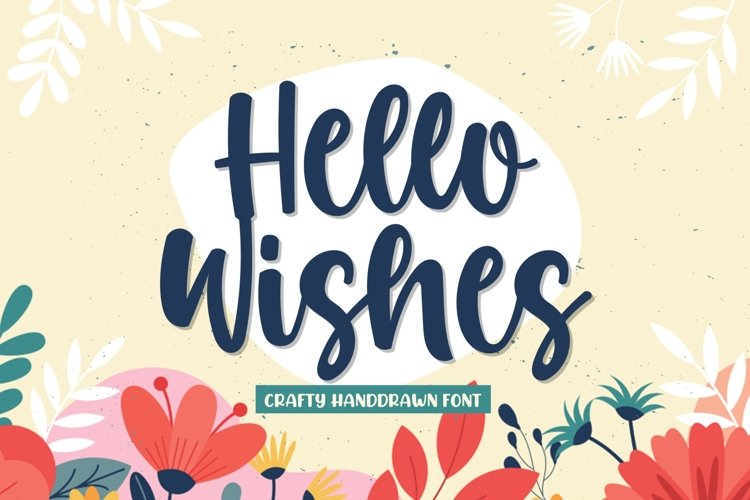Hello Wishes - A Crafty Font