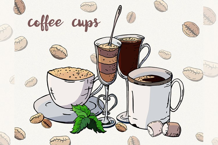Coffee clipart Coffee cup Sweets clipart Vector coffee