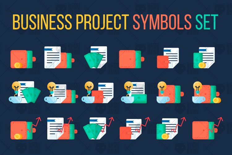 Business Project Symbols Set example image 1