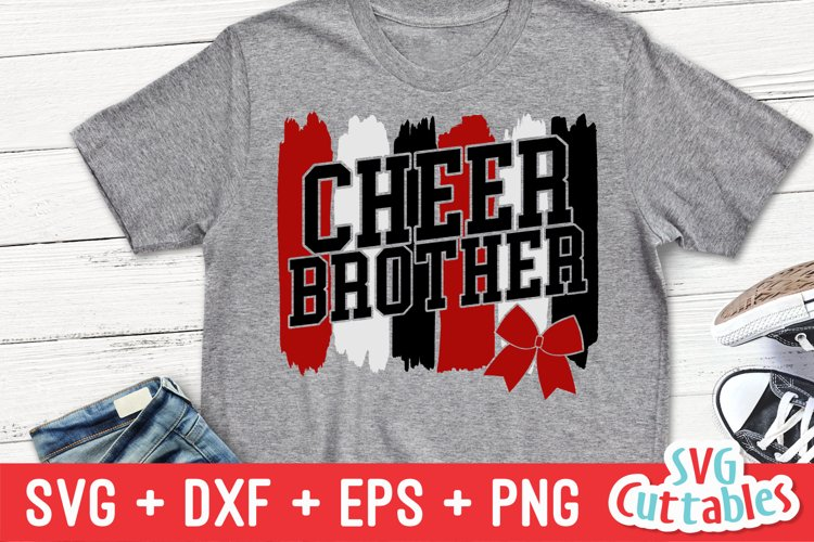 Cheer SVG | Cheer Brother | Paint Strokes | Shirt Design