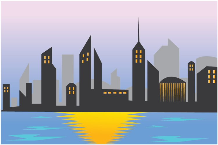 city landscape vector illustration example image 1