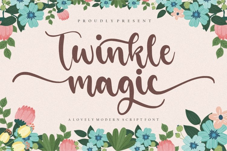Twinkle Magic Lovely Modern Script Font example image 1