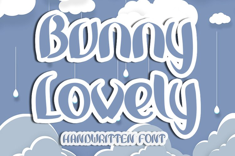 Bunny Lovely - A Handwritten Font example image 1