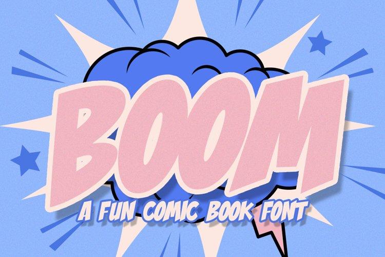 Boom Comic Font example image 1