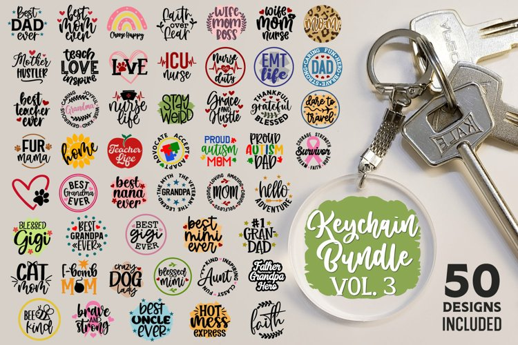 Keychain Bundle Vol 3, Keychain Quotes Bundle, Keychain Svg