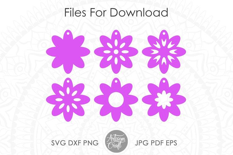 Earring SVG, Flower earrings SVG, leather earring patterns example 1