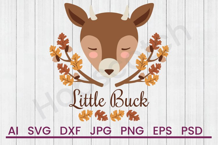Deer SVG, Little Buck SVG, DXF File, Cuttatable File example image 1