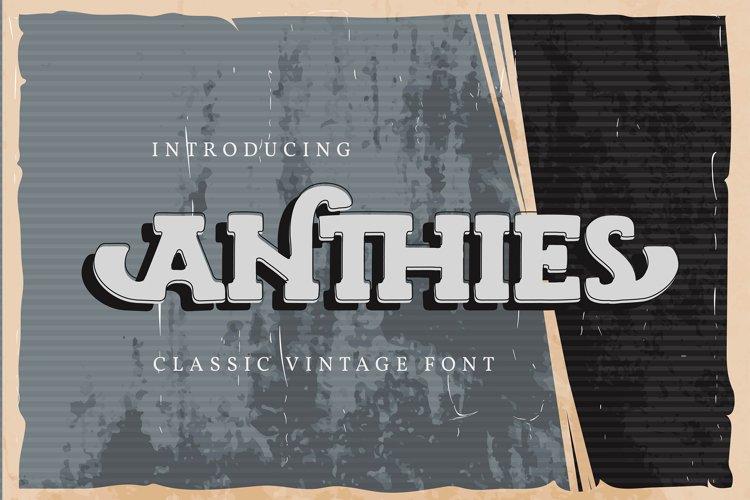 Anthies | Classic Vintage Font