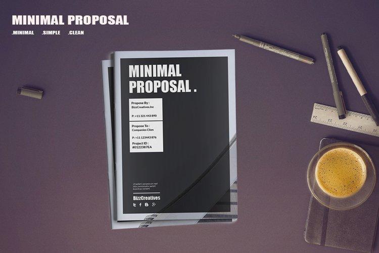 Minimal Proposal Template example image 1