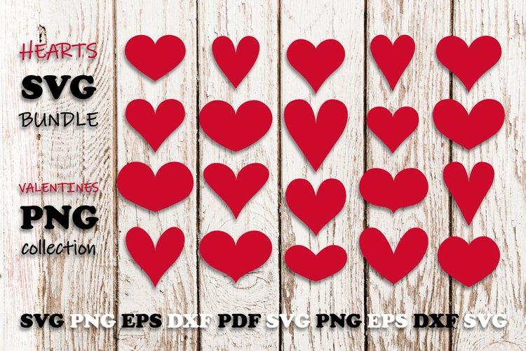 Hearts SVG Bundle   Valentine PNG Pack example image 1